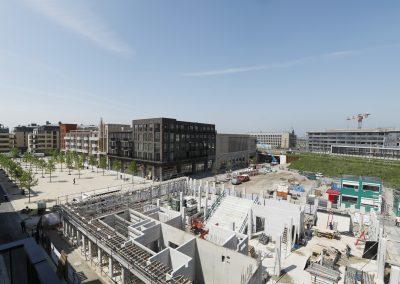 Brusselplein en bibliotheek in aanbouw