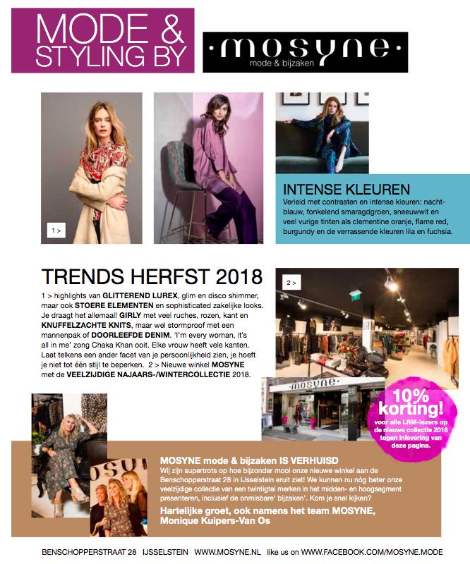Moderubriek MOSYNE in herfstnummer Leidsche Rijn Magazine